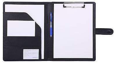 Faux Leather Clipboard Folder for A4 Letter Size 8.5 x 11 Writing Pad Busines...