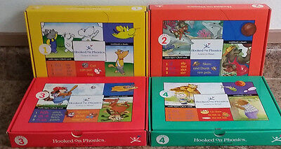 Hooked On Phonics Learn to Read Levels 1-4 Set Incomplete Cassette Homeschooling