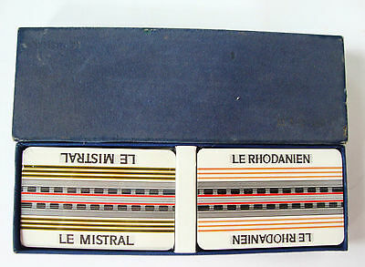 French playing cards 2 decks Grimaud vintage unused boxed bridge