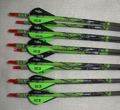 Easton ST Axis Full Metal Jacket Arrows 400 w/Blazer Vanes Mossy Oak Wraps 1 Dz