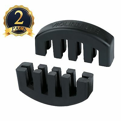 SUBANG 2 Pack 4/4 Claw Rubber Mute Violin Practice Mute Black