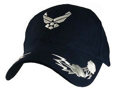 U.S.A.F. US AIR FORCE  WITH BOLTS OFFICIALLY LICENSED Military Hat ball cap