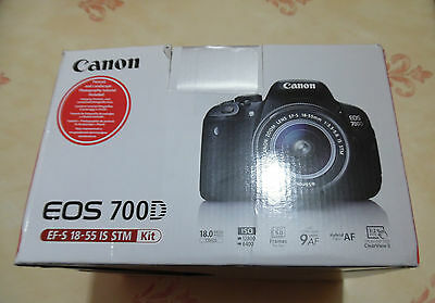 Canon EOS 700D 18MP DSLR Camera with 18-55mm Lens - Black New