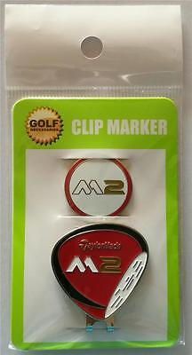 Taylormade M2 Hat Clip and Magnetic Ball Marker - Red