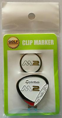 Taylormade M2 Hat Clip and Magnetic Ball Marker - White