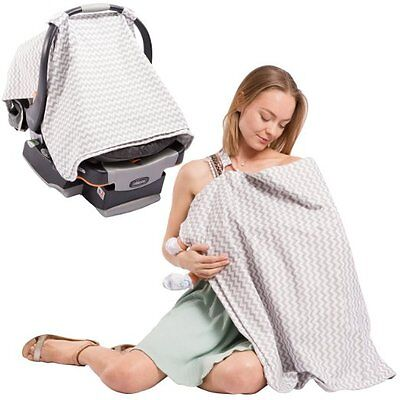 2 in 1 Nursing Scarf Cover Up Apron for Breastfeeding & Baby Car Seat Cover