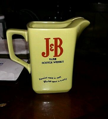 "J & B Rare Scotch Whisky Barware Advertising Pitcher Vintage 5.5"" Tall"