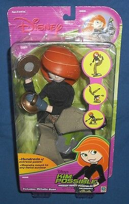 Disney Kim Possible Mission Ready Poseable Figure Doll ~ Metal Base Magnet Hands