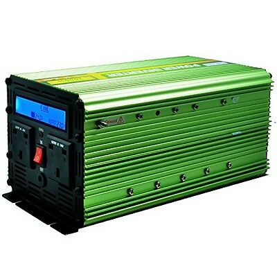 Generic Power Inverter 2000W DC 24V to 230V AC Car Vehicle with LCD Display and
