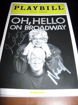 Oh Hello Broadway autographed Playbill  LAST CHANCE !!
