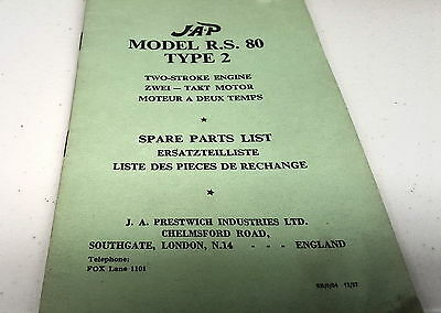 1957 JAP RS80 Type 2 - 2-Stroke Engine Factory Parts Book