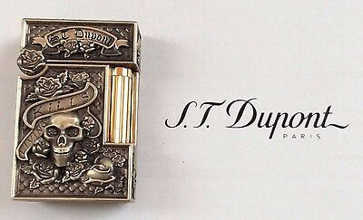 St Dupont Skulls & Roses Linge 2 Line 2 Limited Edition Bronze Tournaire Lighter