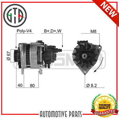 Alternatore Ford Transit Tourneo 2.5 Td 100 4Eb 98 - 00 0986036631