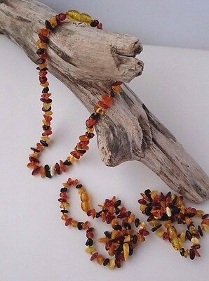 Natural BALTIC AMBER BABY Necklace Multicolor