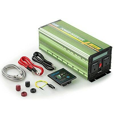 Generic 3000W Power Inverter DC 12V to 240V AC with LCD Display and Remote -