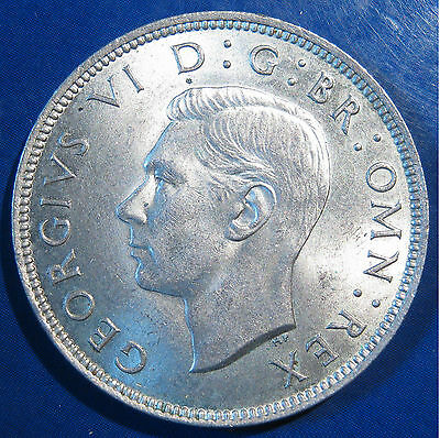 1939 2/- George VI silver Florin - aUNC, lovely, and lustrous