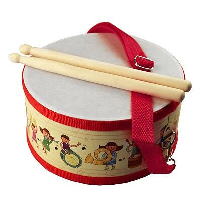 HOT Kids Musical Toy Wooden Knock Drum Set Funny Children Percussion Instrument