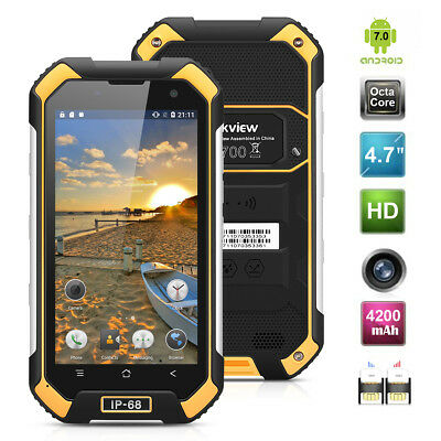 """Blackview BV6000 4,7"""" 4G Smartphone Android 6.0 Octa Core 3+32Go étanche Yellow"""