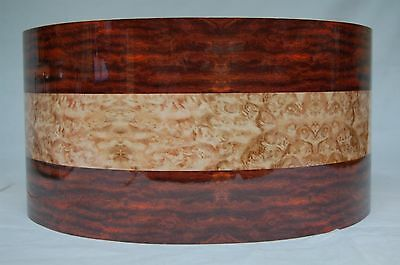 "13"" x 6 1/2"" "" Natural 2 Tone Wood Effect Snare Drum Wrap"