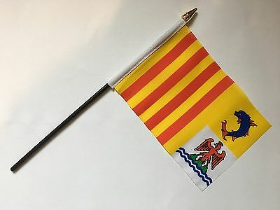 """PROVENCE-ALPS-COTE D'AZUR SMALL HAND WAVING FLAG 6""""X4"""" flags FRENCH FRANCE"""