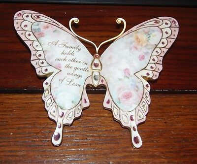 Bradford Exchange Winged Butterfly Wings of Love First edition 2007