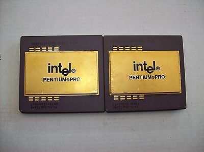 Lot of 2 Pentium Pro Computer CPU's , For Scrap Gold Recovery (512)