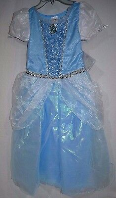 Disney Store Deluxe Princess Cinderella Gown Costume Dress Size 7/8 NWT