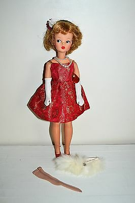 Vintage 1960's Ideal Tammy Doll BS-12 w Original Fur 'n Formal Outfit Complete
