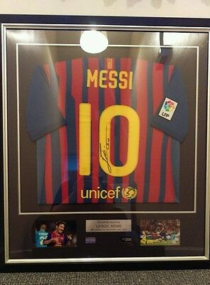 Lionel Messi signed Barcelona shirt with COA