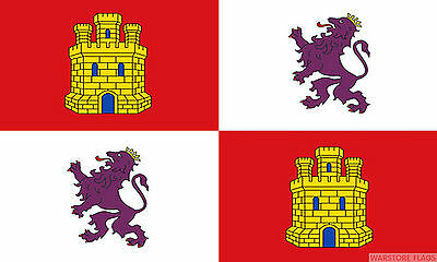 CASTILE AND LEON 5x3 feet FLAG 150cm x 90cm Polyester fabric flags