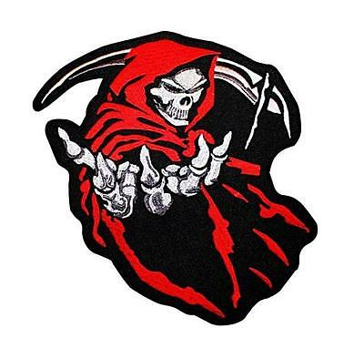 Grim Reaper Embroidered Iron Sew On Patch Badge Applique Motif