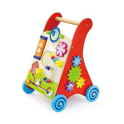 Viga RED Wooden Kids/Children's Activity Baby Walker