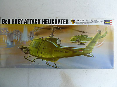 1967 Revell Bell Huey Attack helicopter 1/32 scale  model