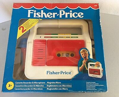 Vintage 1988#Fisher-Price  Cassette Recorder & Microphone# Combo Very Rare NIB