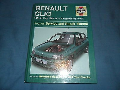RENAULT CLIO 1.1,1.2,1.4,1.8 - 16 VALVE,RL,RN,RT,OASIS,PRIMA - 1991 to MAY 1998