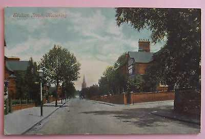 Postcard 1906 STATION ROAD KETTERING NORTHAMPTONSHIRE
