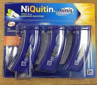 Niquitin Minis 4mg Mint Lozenges  10 Pack Of 60~~Bulk Buy offer~~