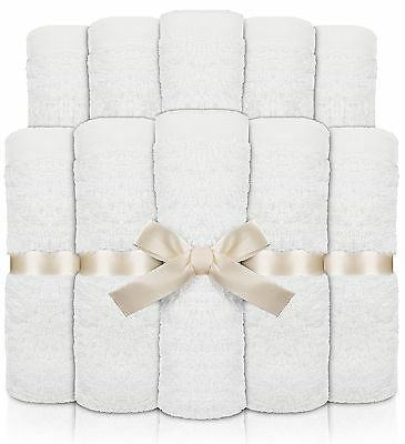 Utopia Towels Premium Bamboo Baby Washcloths (White 10 Pack 10x10 inches) Ext...