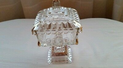 Crystal  Wedding Candy Box  Originaly Made By Adams Glass In Early 1880