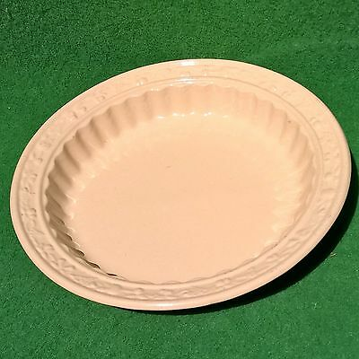 plat tarte moule french backing dish apple pie céramique ancien beige 26cm