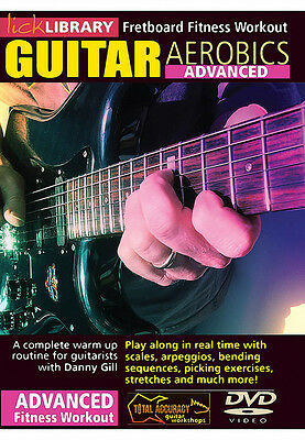 Lick Library GUITAR AEROBICS Fretboard Fitness Advanced Workout Video Lesson DVD