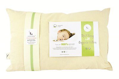 DorDor & GorGor Unisex Baby Organic Cotton Toddler Pillow, 13x18 inches