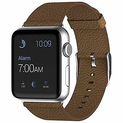 Apple Watch Leather 42mm Strap Replacement Smartwatch Unique Durable Brown Band