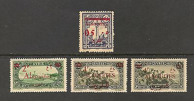 Alaouites (Latakia) #46-49 VF MLH - 1928 5c to 4p Overprints & Surcharges