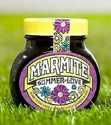 """2 x """"Summer of Love"""" Limited Edition Marmite 250g EACH NEW & SEALED"""