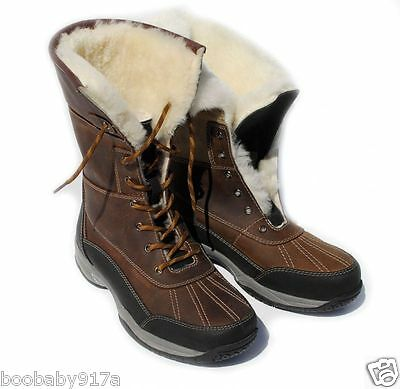 Rhinegold Arctic Winter Boots Waxy Brown Luxurious Sheepskin Lined Winter Boots