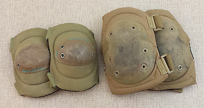 BLACKHAWK Hellstorm Advanced TACTICAL KNEE & ELBOW Pads Coyote Tan USED