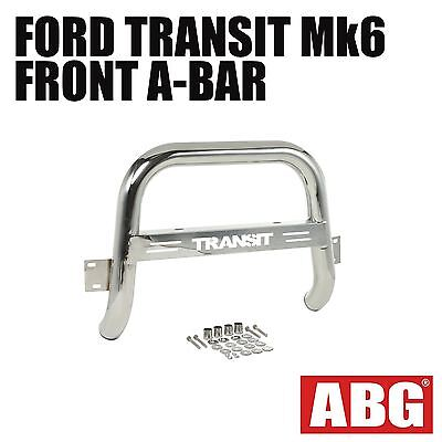 "For Ford Transit Mk6 2000 to 2006 Front A-Bar Bullbar with Logo Bolt-On 3"" New"