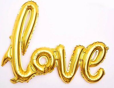 Love Letters Foil Balloon Birthday Wedding Party Anniversary Decor