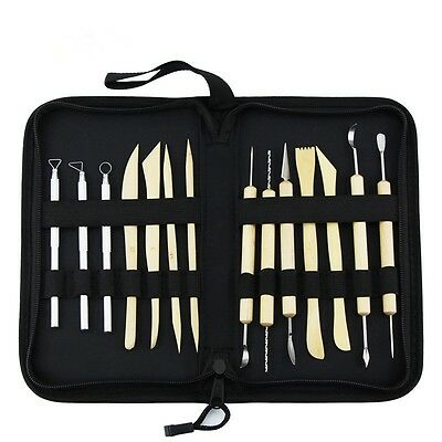 14PCS/Set Handle Clay Sculpture Tool Pottery Polymer Clay Sculpting Stainless St